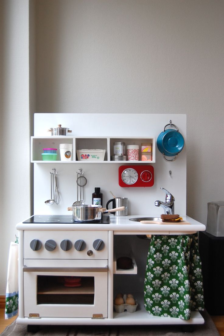 Diy play kitchen stove top for the kids pinterest for Diy kids kitchen ideas
