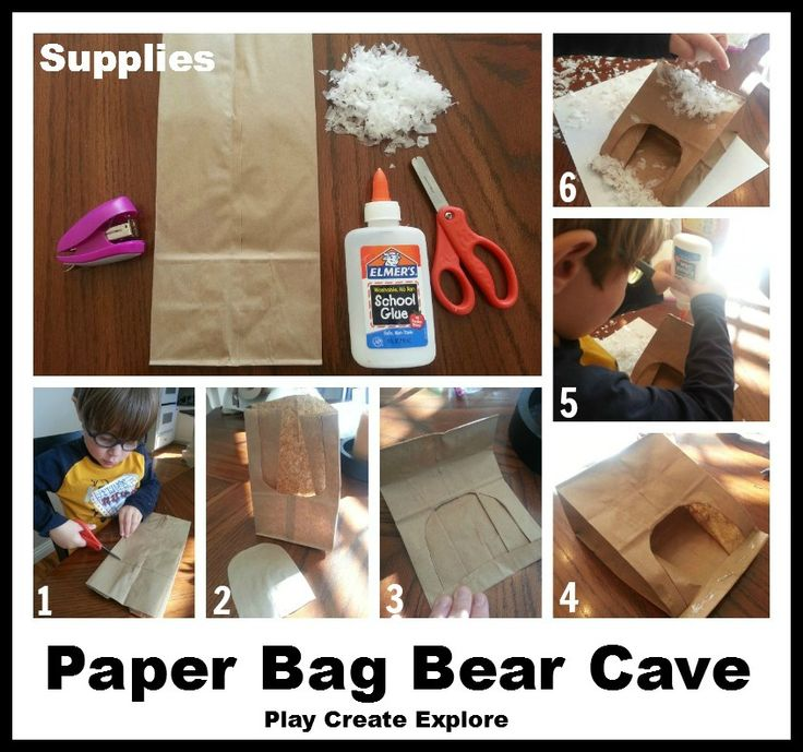 Play Create Explore: Paper Bag Bear Cave Craft: Learning about ...