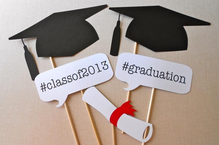 Graduation Photo Booth Props Printable Graduation photo booth props.