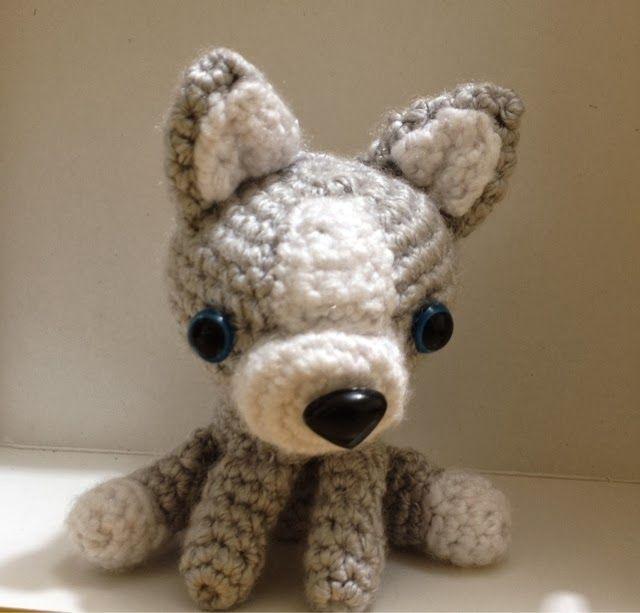 Crochet Amigurumi Wolf : Pin by Mary (Twinkle) Brady on Crochet-Miniature Crochet ...