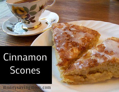 Glazed Cinnamon Scones: Christmas brunch written all over this recipe.