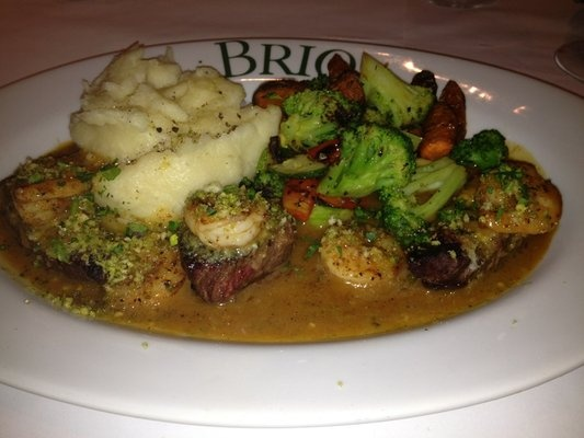 Artichoke-Crusted Beef Medallions with Shrimp Scampi (additional ...