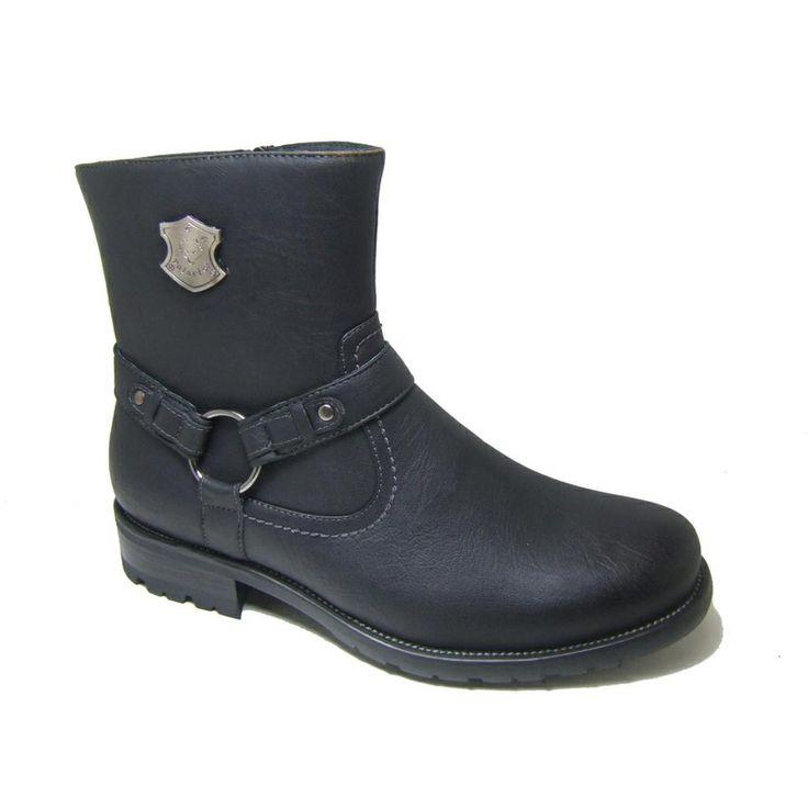 polar fox s mid calf side zip motorcycle boots