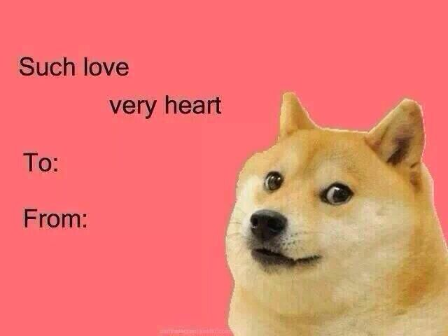 doge valentines day cards