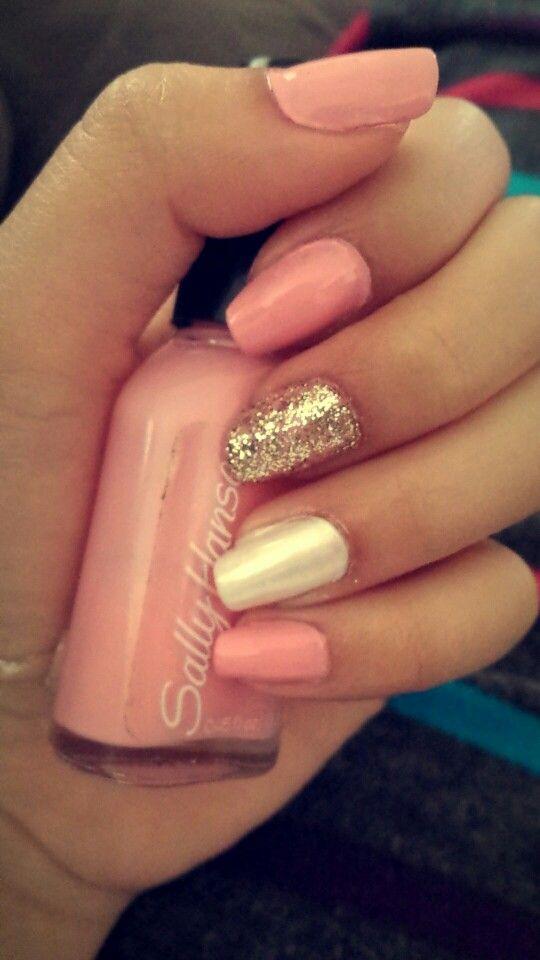 Light pink nailsLight Pink Nail Designs Pinterest