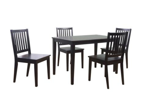 tms 5 piece shaker dining set black dining room furniture pinter