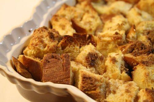 Challah Bread Pudding with Bourbon Brown Sugar Sauce