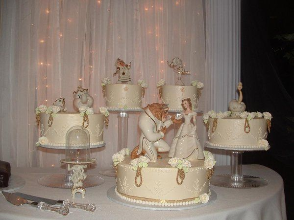 Disney wedding cake toppers beauty and the beast