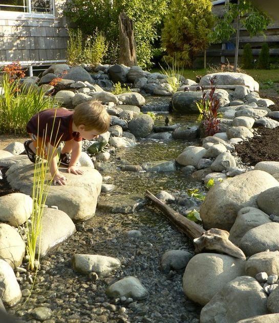 River Rock In Backyard : rock river