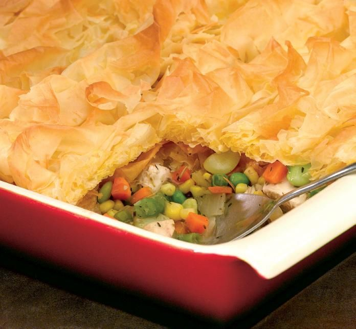 Chicken Pot Pie with Fillo Crust | I love food! | Pinterest