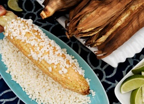 Grilled Corn with Cayenne, Lime, and Cotija
