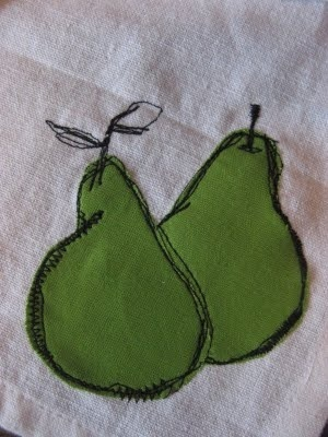 sew sketch pears