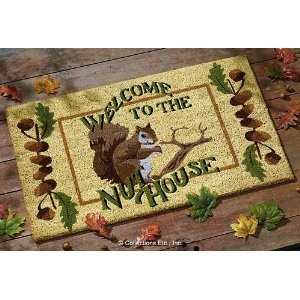 Funny Squirrel Welcome Door Mat Welcome To Our Home