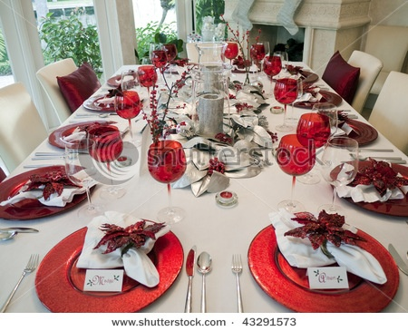 Christmas Dinner Table Table Settings Parties Themes