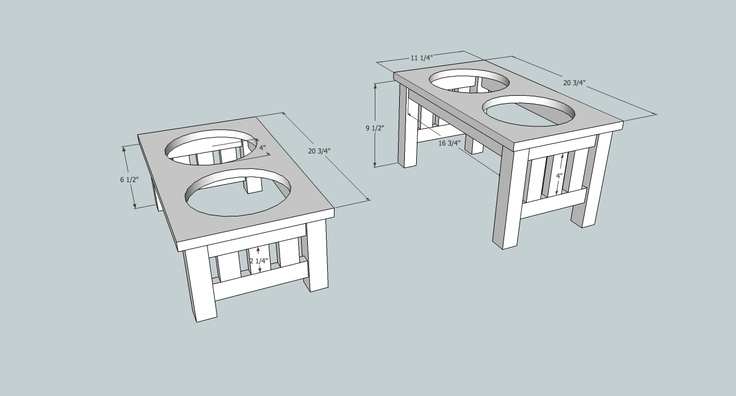 woodworking plans dog bowl stand