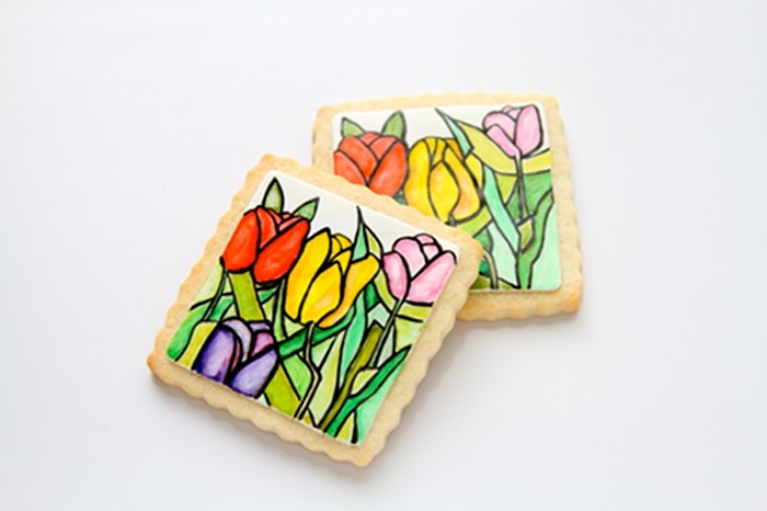 Stained Glass Cookies. $38.00, via Etsy. | beautiful cookies | Pinter ...