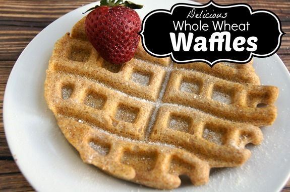 Whole Wheat Waffles #SweetSwaps | Recipes to Try | Pinterest