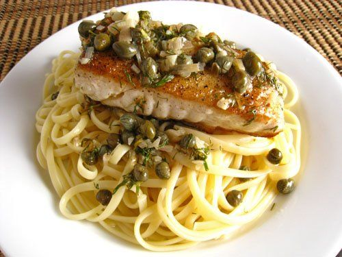 sauce lemon garlic butter sauce for seafood chicken cutlets with caper ...