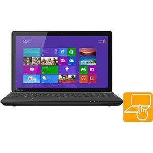 "Toshiba Satin Black 15.6"" Touchscreen C55t-A5222 Laptop PC with Intel"