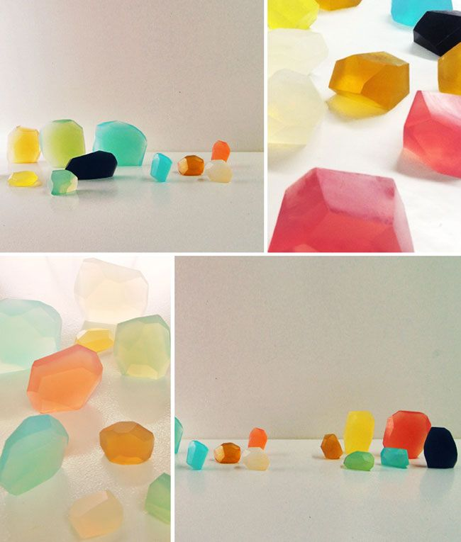 plenty of colour - soap jewels | Craft & DIY projects | Pinterest