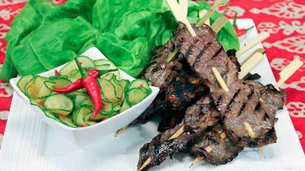 Lemongrass Beef Skewers | Grilling | Pinterest