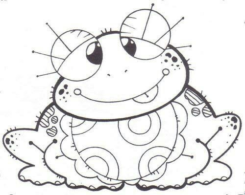 peace frog coloring pages - photo#17