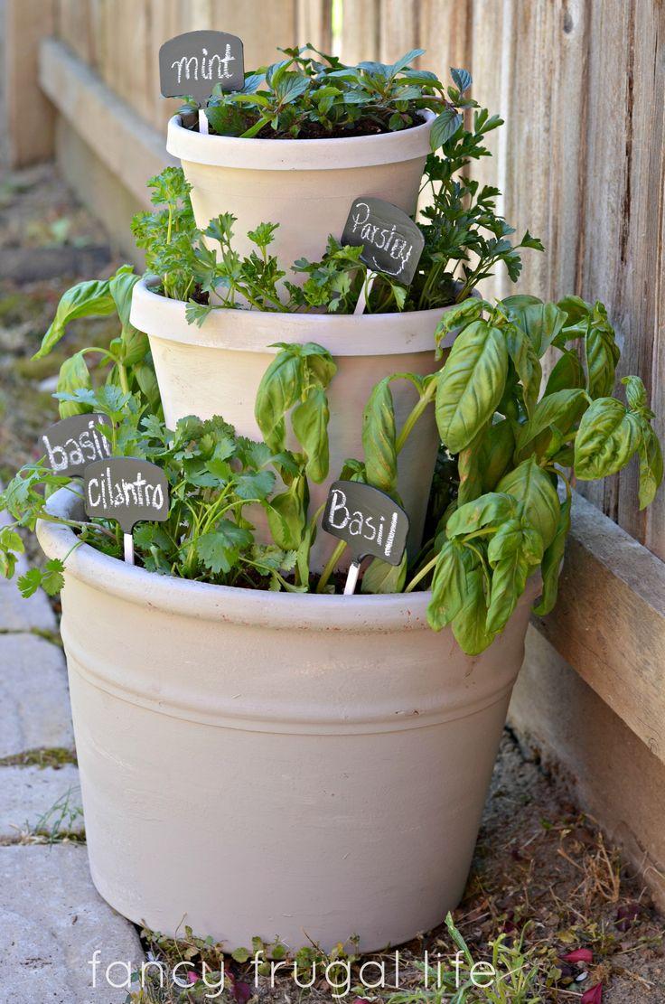 Diy Tiered Herb Garden Gardening Inspiration Pinterest