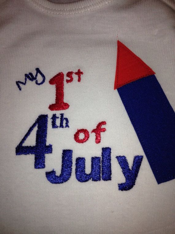 my first fourth of july applique