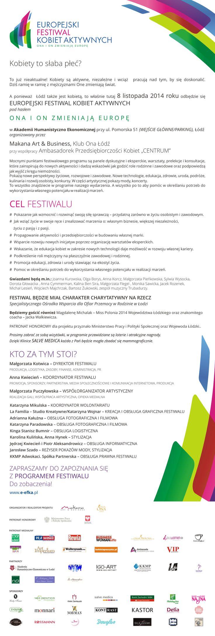 Europejski Festiwal Kobiet Aktywnych w Łodzi