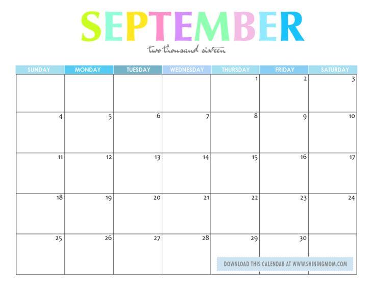 September Calendar 2017 Pinterest – September printable calendars