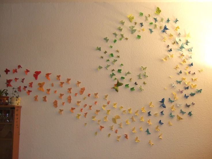 Butterfly origami wall decoration homeslice pinterest for Origami decorations for your room