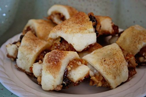 Gluten Free Rugelach! Delicious little twists filled with a cinnamon ...