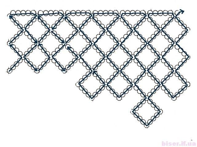 Косынка из бисера схема плетения