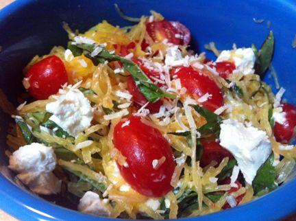 Spaghetti Squash With Basil, Tomatoes & Goat Cheese