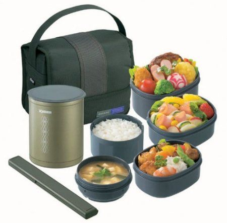 zojirushi thermal lunch box bento bako food restaurants cooking. Black Bedroom Furniture Sets. Home Design Ideas