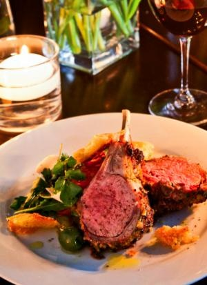 Herb-& Mustard-Crusted Rack of Lamb with Salad & Hand-Torn Croutons