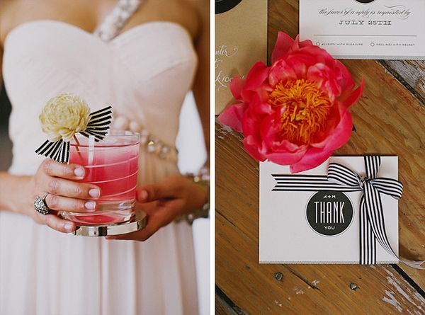 Hochzeit schwarz weiß gestreift (4)  deko/accessoires  Pinterest
