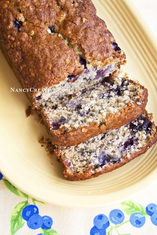 Blueberry Oat Banana Bread | Breads | Pinterest