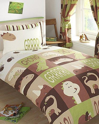 Dinoland Lined Curtains & Tie Backs | the Boy's room | Pinterest