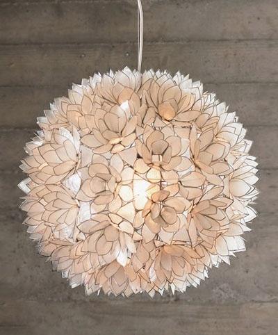 decorative capiz shell lotus flower pendant light fixtures available. Black Bedroom Furniture Sets. Home Design Ideas