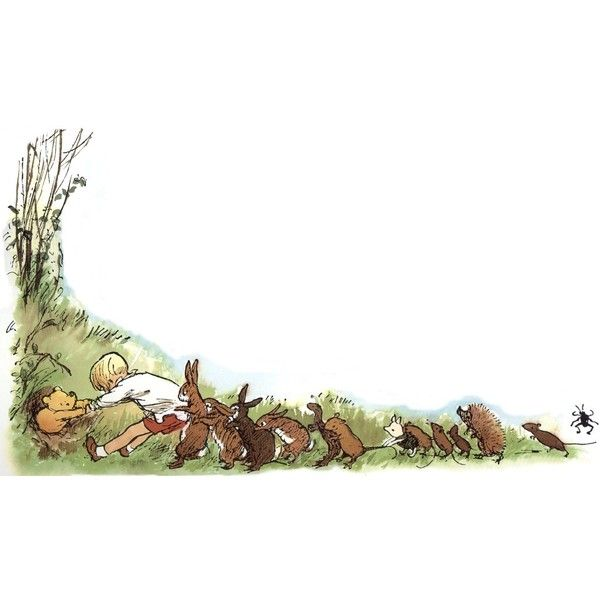 Classic Pooh Clipart Collection found on Polyvore
