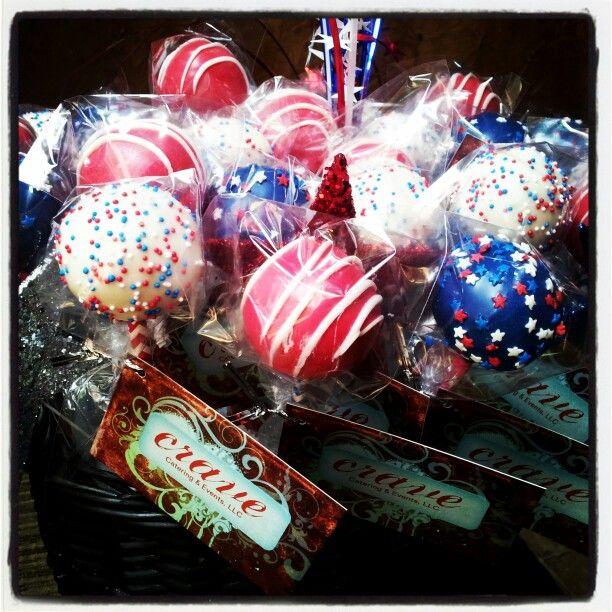 Patriotic Red White & Blue Cake Pops | Cake Pops | Pinterest