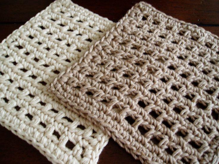 Knit Waffle Stitch Dishcloth : Waffle Crochet Dishcloth PDF Pattern
