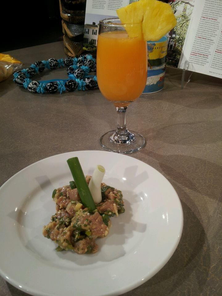 Ahi Poke Inspired Tuna Ceviche with Orange, Guava and Pineapple Juice ...