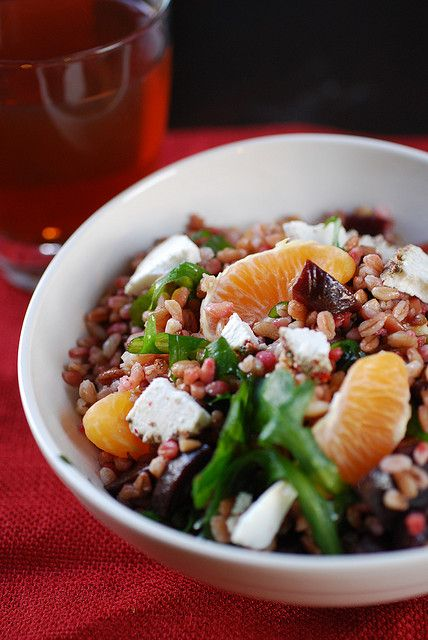 Farro Salad - similar to one I had last week in LA at Cafe Pinot and ...