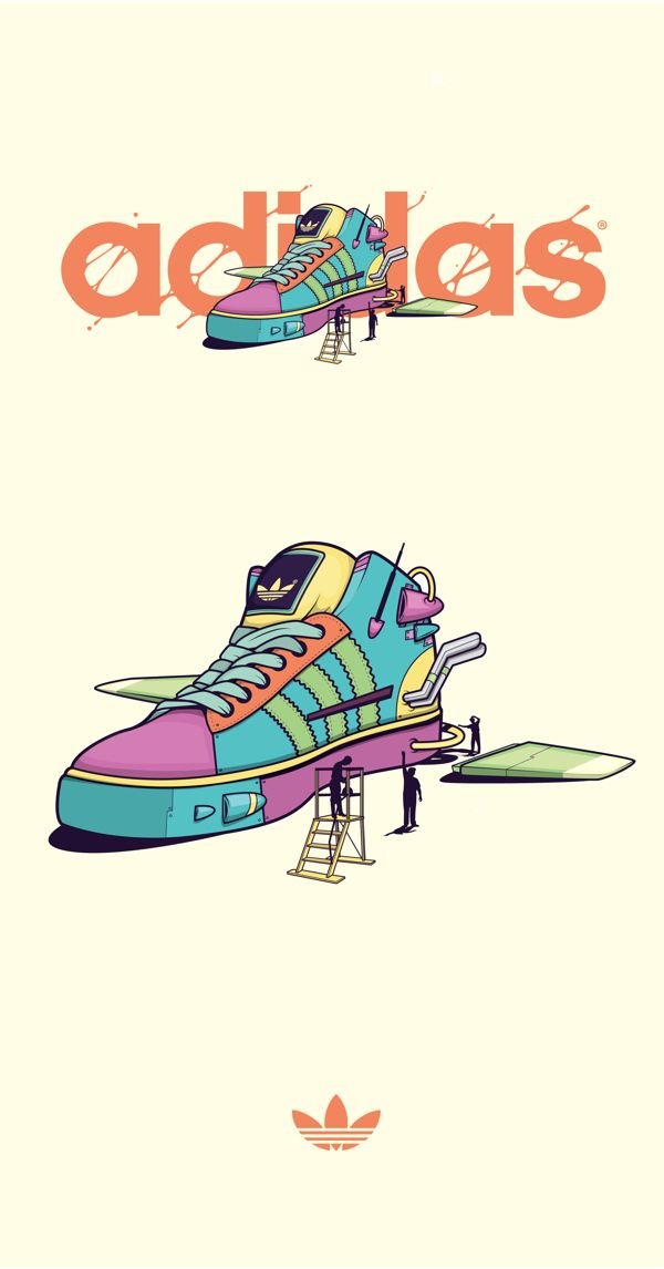 Customized shoes by Meme, via Behance