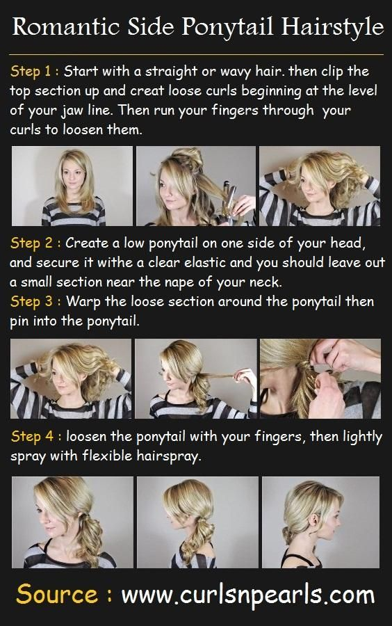 Romantic Side Ponytail Hair Tutorial | Hurr an