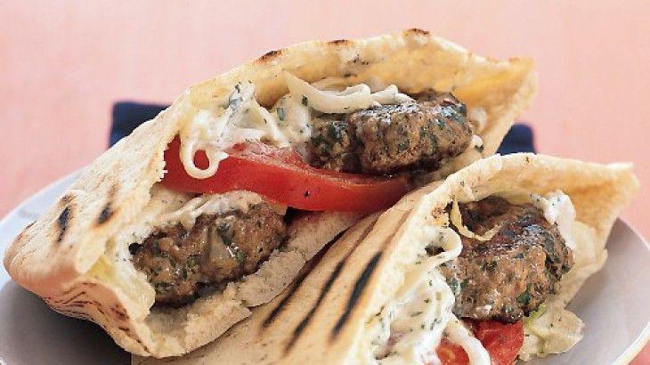 Mini Greek Lamb Burgers Recipe | Mmm...it's what's for dinner | Pinte...