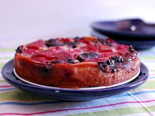 Healthy vegan gluten-free berry clafoutis