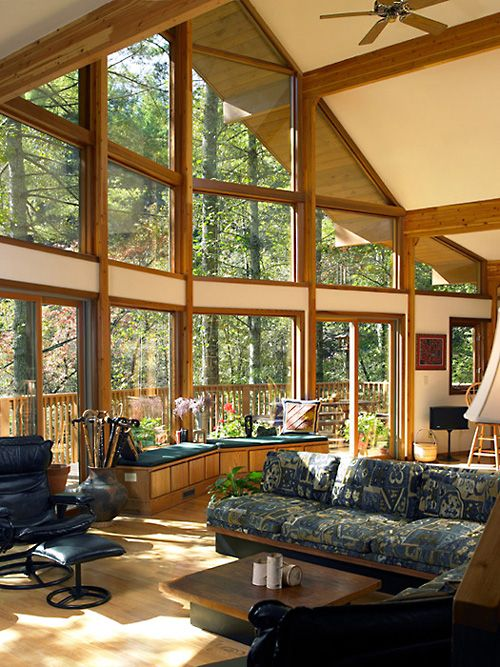 Lindal cedar homes photo gallery cedar framed houses for Log cabin sunrooms